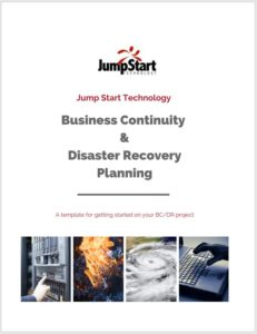 disaster preparedness and recovery plan template jump start technology